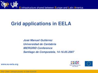Grid applications in EELA