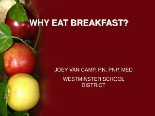 WHY EAT BREAKFAST?