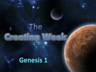 The  Creation Week