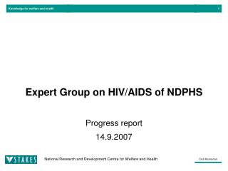 Expert Group on HIV/AIDS of NDPHS