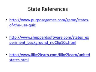 State References