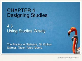 CHAPTER 4 Designing Studies