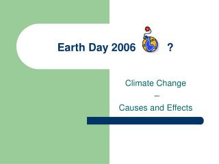 Earth Day 2006		?
