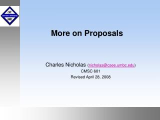 More on Proposals