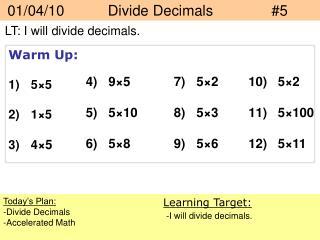 01/04/10   Divide Decimals#5
