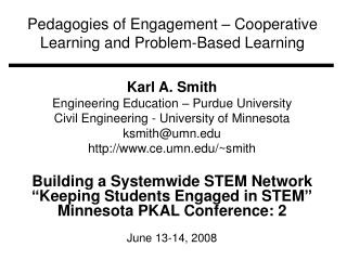 Pedagogies of Engagement – Cooperative Learning and Problem-Based Learning