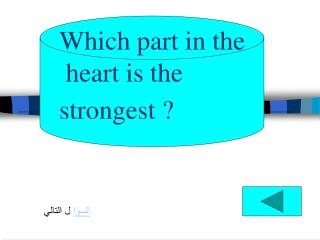 Which part in the  heart is the  strongest ?