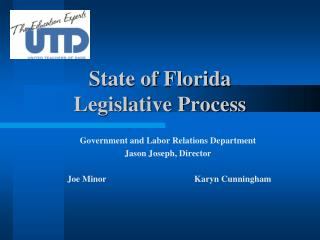 State of Florida Legislative Process