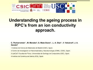 Understanding the ageing process in RPC's from an ion conductivity approach.