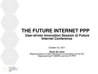 the  Future Internet  PPP