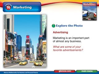 Advertising Marketing is an important part of almost any business.