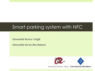 Smart parking system with NFC