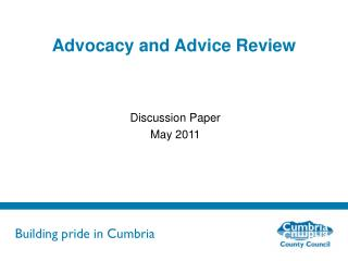 Advocacy and Advice Review