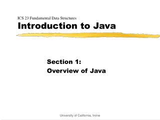 ICS 23 Fundamental Data Structures