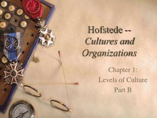 Hofstede --  Cultures and Organizations