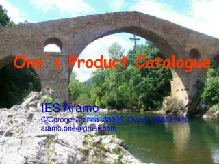 One´s Product Catalogue