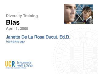 Diversity Training  Bias April 1, 2009