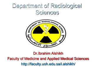 Department of Radiological Sciences