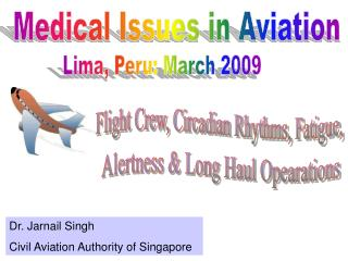Medical Issues in Aviation