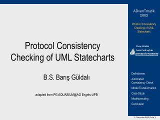 Protocol Consistency Checking of UML Statecharts