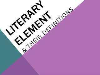 Literary element