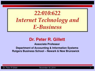 22:010:622 Internet Technology and E-Business