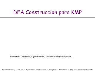 DFA Construccion para KMP
