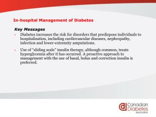 In-hospital Management of Diabetes
