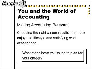 You and the World of Accounting