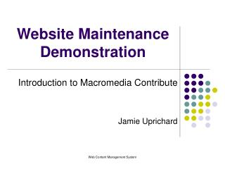 Website Maintenance Demonstration