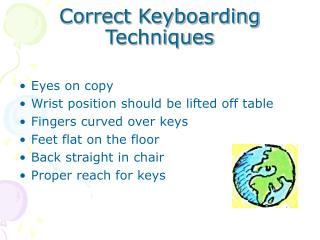 Correct Keyboarding Techniques