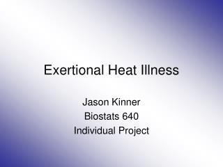 Exertional Heat Illness