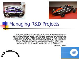 Managing R&D Projects