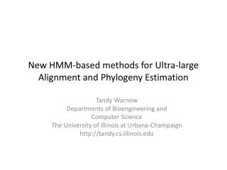 New HMM-based methods for Ultra-large Alignment and Phylogeny Estimation