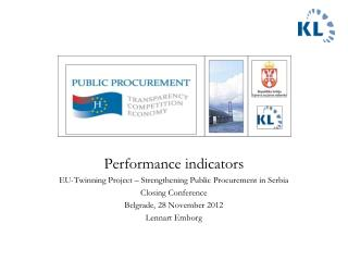 Performance indicators EU-Twinning Project – Strengthening Public Procurement in Serbia