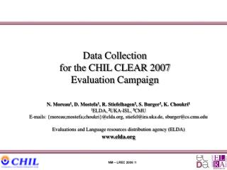 Data Collection for the CHIL CLEAR 2007 Evaluation Campaign