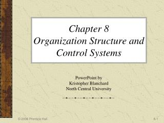 Chapter 8  Organization Structure and Control Systems