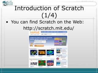 Introduction of Scratch  ( 1 / 4 )