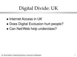Digital Divide: UK