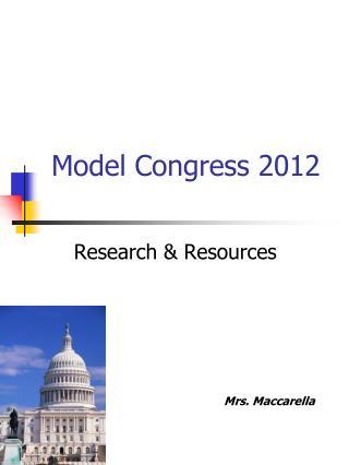 Model Congress 2012