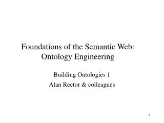 Foundations of the Semantic Web: