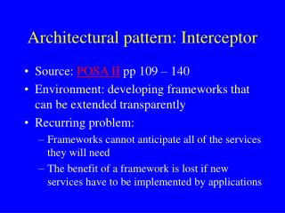 Architectural pattern: Interceptor
