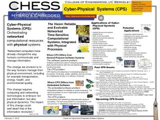 Cyber-Physical  Systems (CPS)