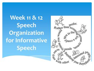 Week 11 & 12 Speech Organization for Informative Speech