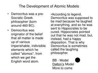 The Development of Atomic Models