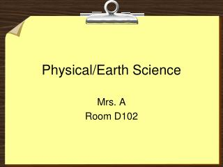 Physical/Earth Science