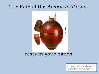 The Fate of the  American Turtle… rests in your hands.