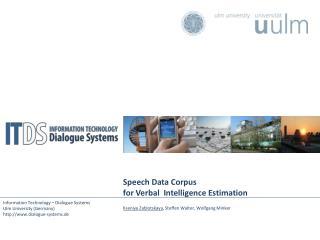 Speech Data Corpus  for Verbal  Intelligence Estimation