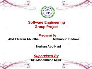 Software Engineering Group Project