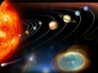 The solar system is made up of two parts :